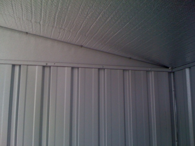 how to finish a shed roof