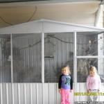 Mary Parsons – Birds Nest Shed – Absco Aviary ZAA30151GK 3m x 1.48m x 2.06m ZINCALUME