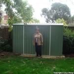 Lisa Schortz – Backyard Shed – Absco Premier PE30152GK 3m x 1.52m Pale Eucalypt
