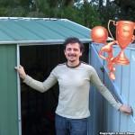 Adrian Moses – Backyard Shed – Spanbilt YardSaver G66 2.1m x 2.1m SD Rivergum