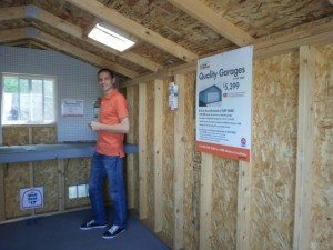 Krisztian checking out timber sheds in California, United States