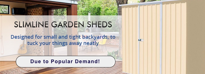 3 New Slimline Storage Sheds For A Limited Time