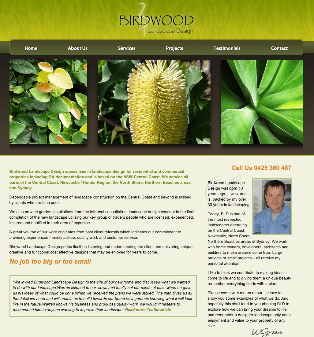 Home Birdwood Landscape Design