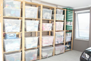 Box storage solution - garage storage