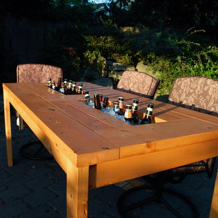 Fathers Day Gift - cooler table