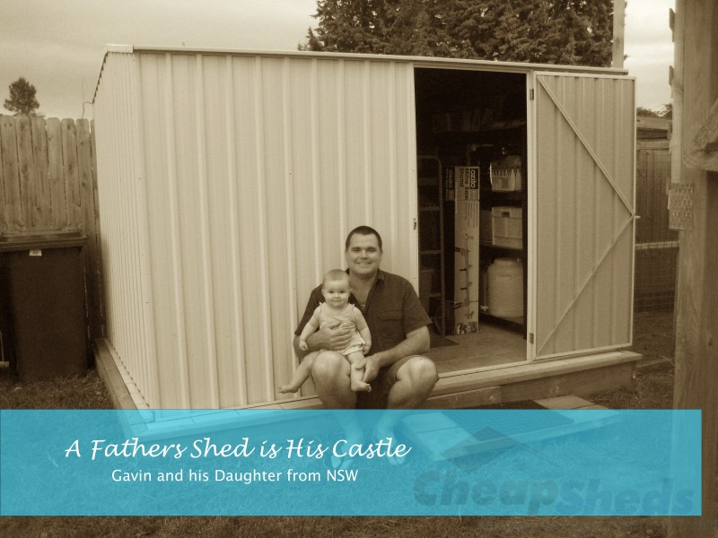 A Fathers Shed is His Castle