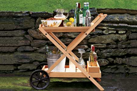 Timber DIY Trolley & Carts- Drinks server