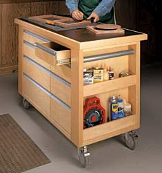 Timber DIY Trolley & Carts- Tool Trolley