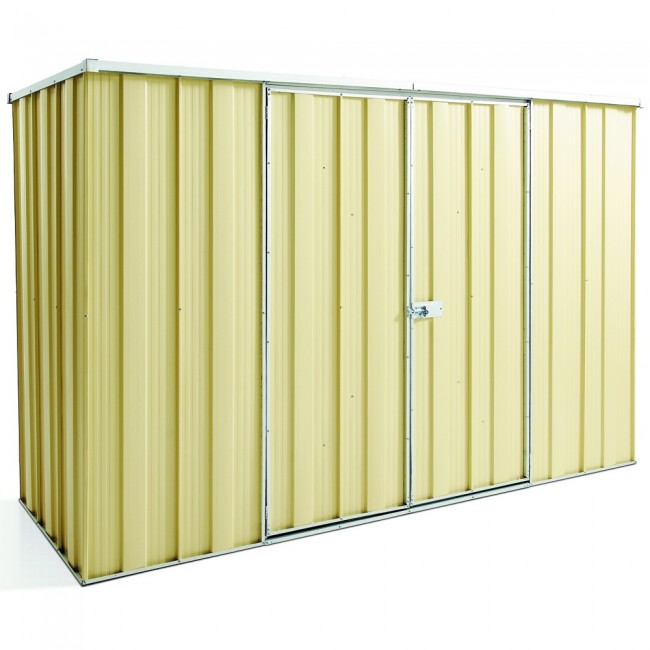 BEST SELLER- Cheap Sheds Flat Roof 2.8m x 1.07m Double Door Colour Shed SPECIAL