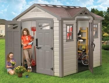 Keter resin storage solutions at cheap sheds for Cheap large garden sheds