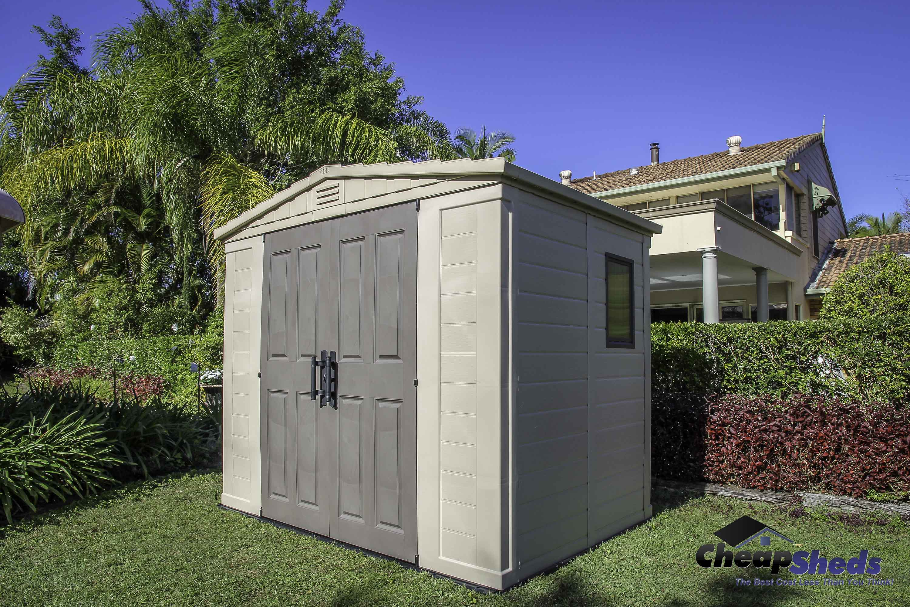 Keter resin storage solutions at cheap sheds cheap sheds for Resin garden shed