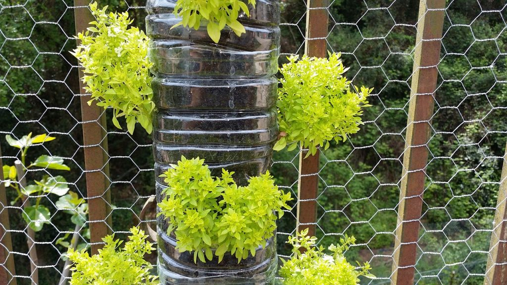 how to create vertical gardens - plastic planters