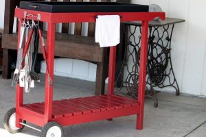 Timber DIY Trolley & Carts - BBQ trolley
