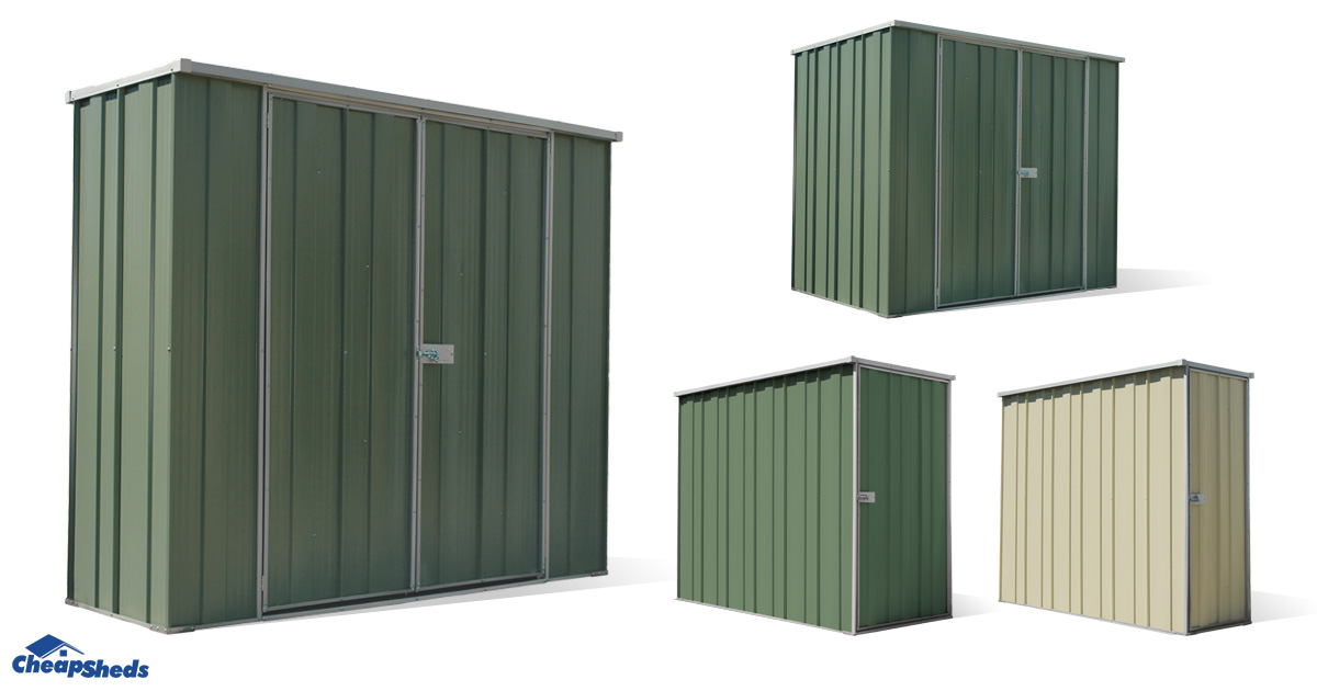 5 new spanbilt slim garden sheds available