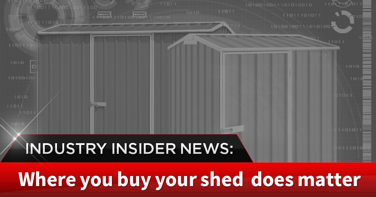 INDUSTRY INSIDER NEWS: The gimmick of the 'no gimmick' one-man show – Why Trust Cheap Sheds