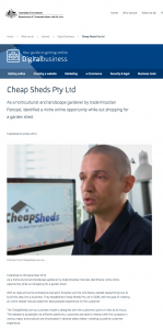 Cheap Sheds Pty Ltd Department of Communications and the Arts