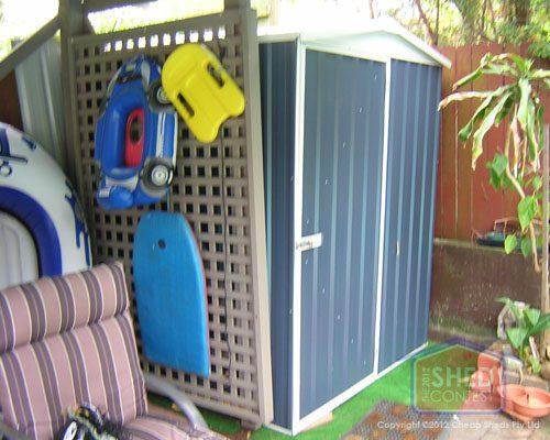 Blue Garden Shed- David Pool shed