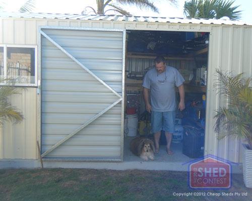 Backyard hobby shed