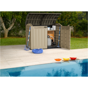 18 different uses for backyard sheds in your home for Garden pool equipment