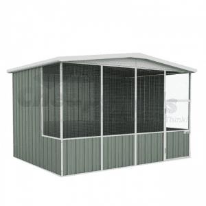 Aviary Gable Roof 3m x 2.3m Pale Eucalypt