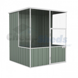 Aviary Flat Roof 1.5m x 1.5m Pale Eucalypt