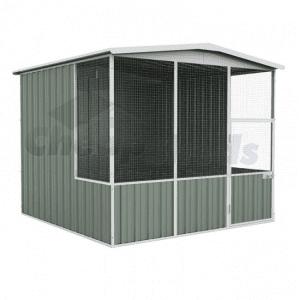 Aviary Gable Roof 2.3m x 1.5m Pale Eucalypt