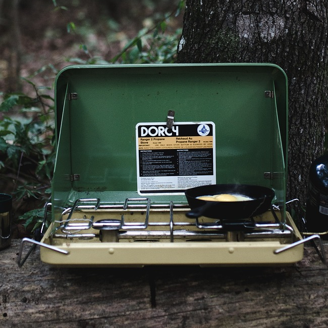Gas Cooker- store your camping gear