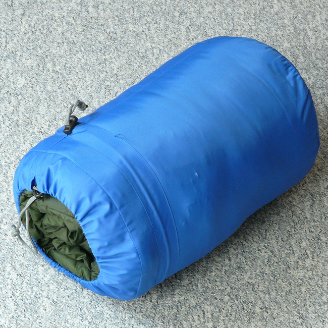 Sleeping bag- store your camping gear