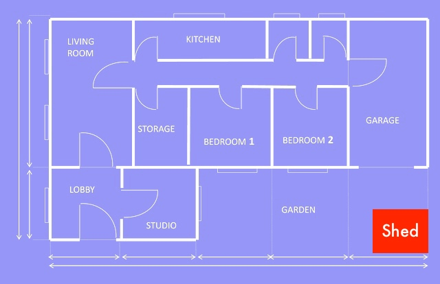 store your camping gear - House plan
