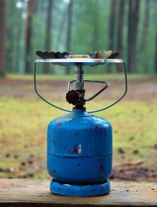 store your camping gear - Butane bottle