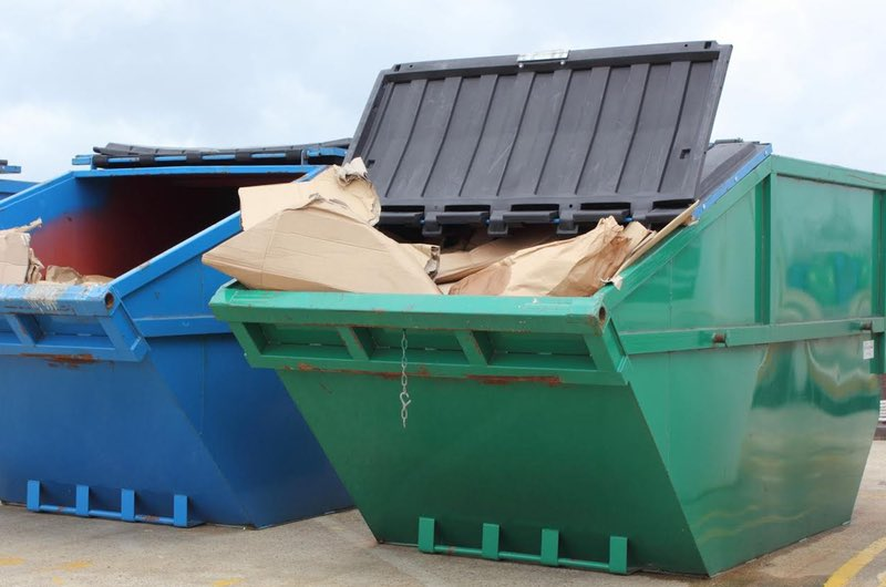 Using a skip bin-  fill evenly