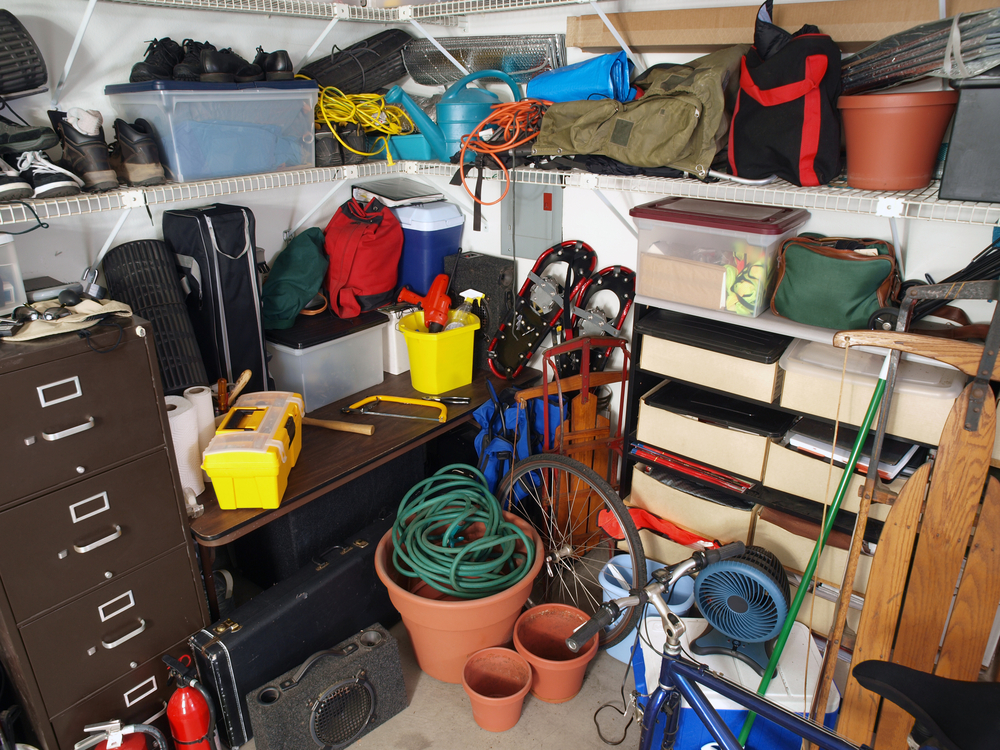 Risks Of Hoarding - garage