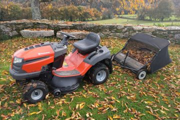 Autumn Lawn Care By Cheap Sheds