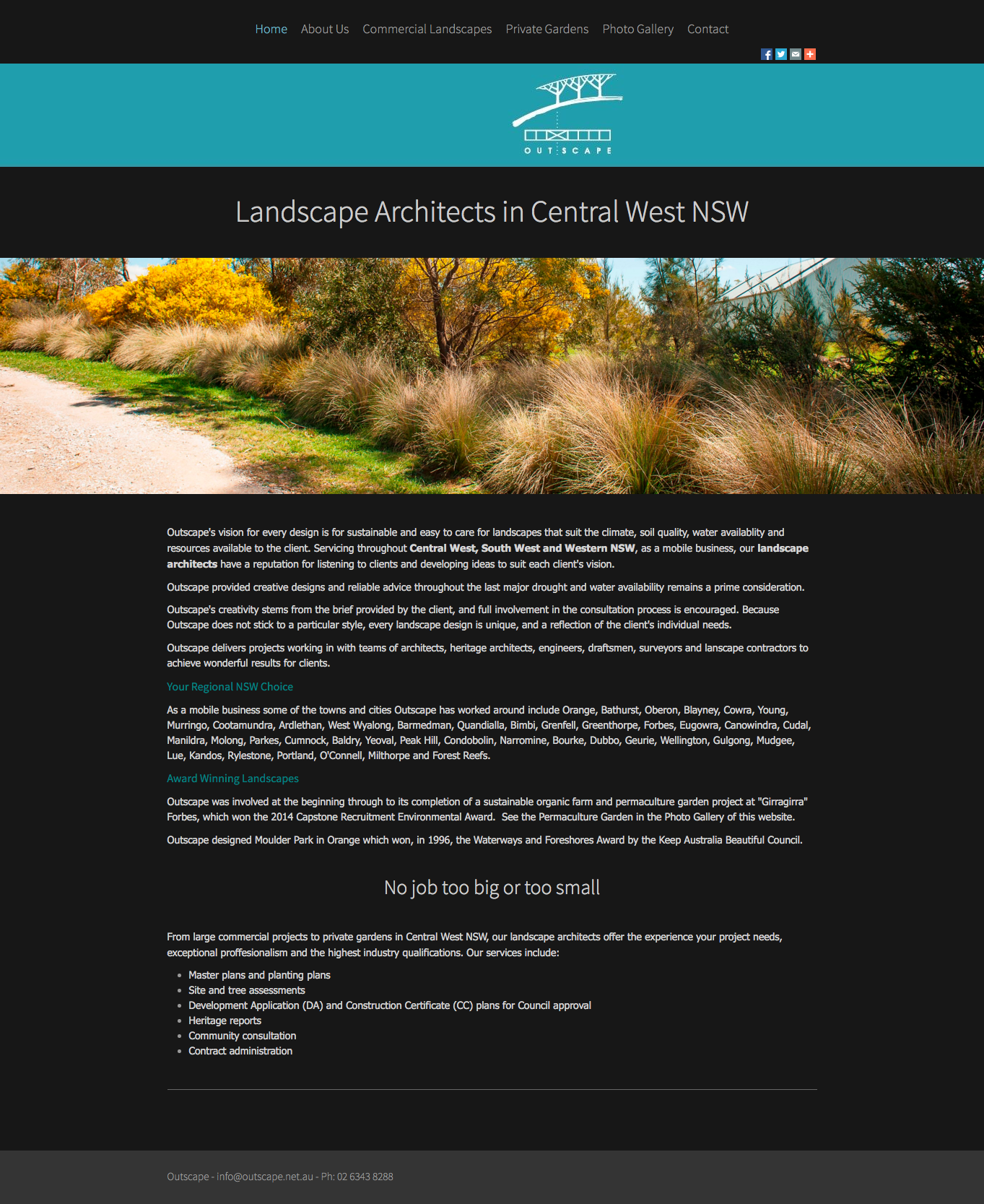 Landscape designers - Landscape architect Central West NSW – Outscape