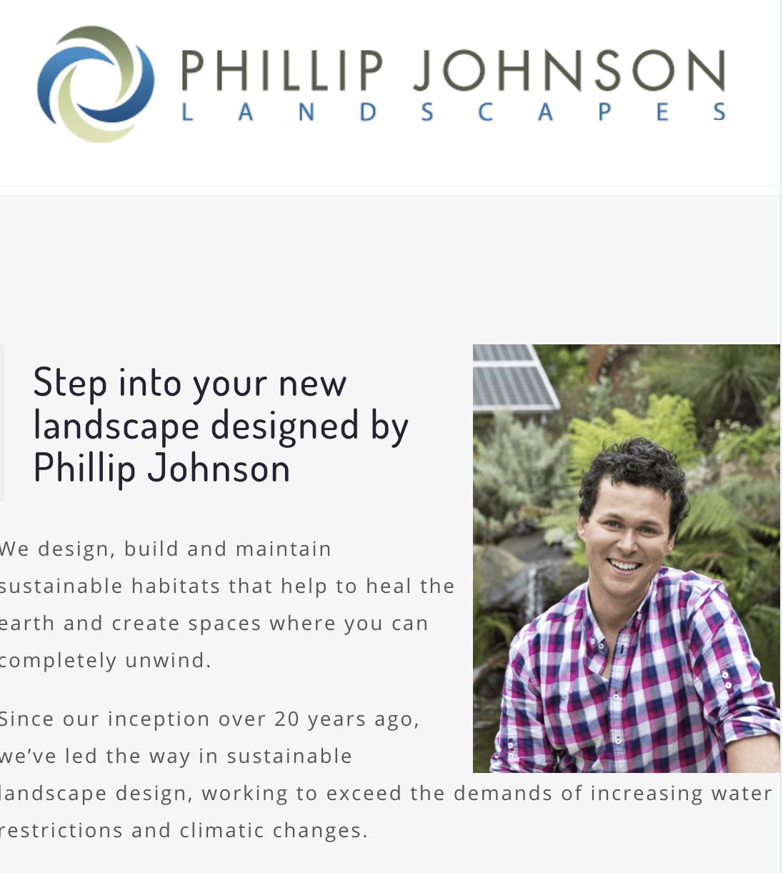 Landscape designers - Philip Johnson Landscapes
