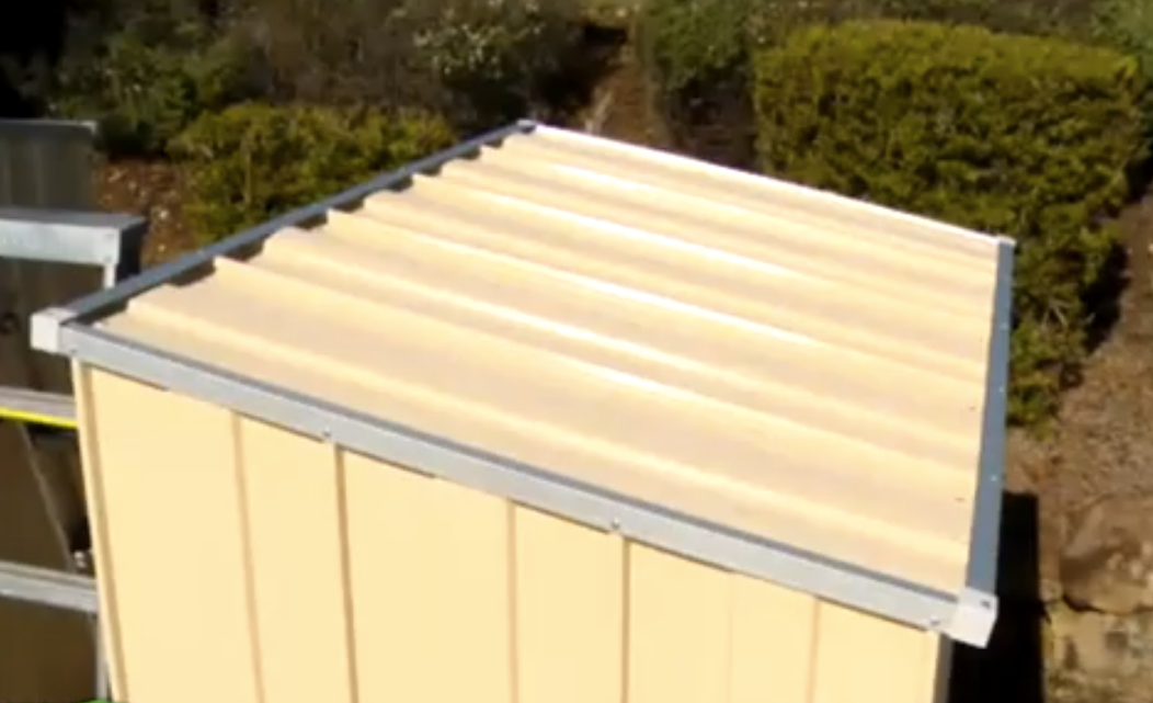 Garden Sheds With Gutter Solutions For Water Run Off