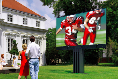 backyard invention - 201 inch outdoor TV