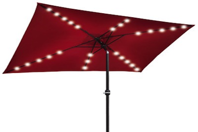 backyard invention - solar-powered patio umbrella