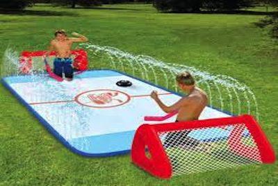backyard invention - knee hockey