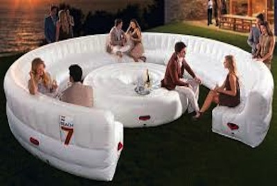 backyard invention - outdoor inflatable couch