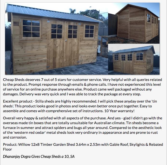 cedar sheds - Stilla Shed