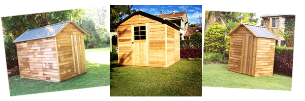 backyard office - timber sheds