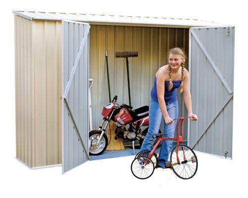 diy storage solutions - bike shed
