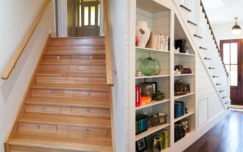 diy storage solutions - stairs storage