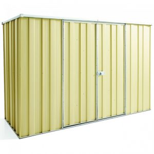 Cheap Sheds Flat Roof 2.8m x 1.07m Double Door Colour Shed SPECIAL