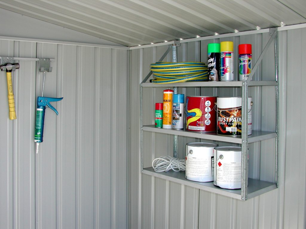 Pool chemicals - shelves and cabinets