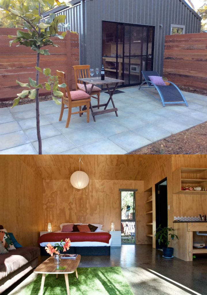 small living - garden shed AirBnB