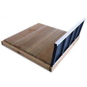 Cedar Garden Sheds - timber floor