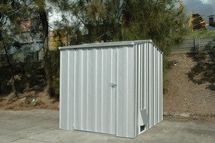chemical safe storage - backyard shed