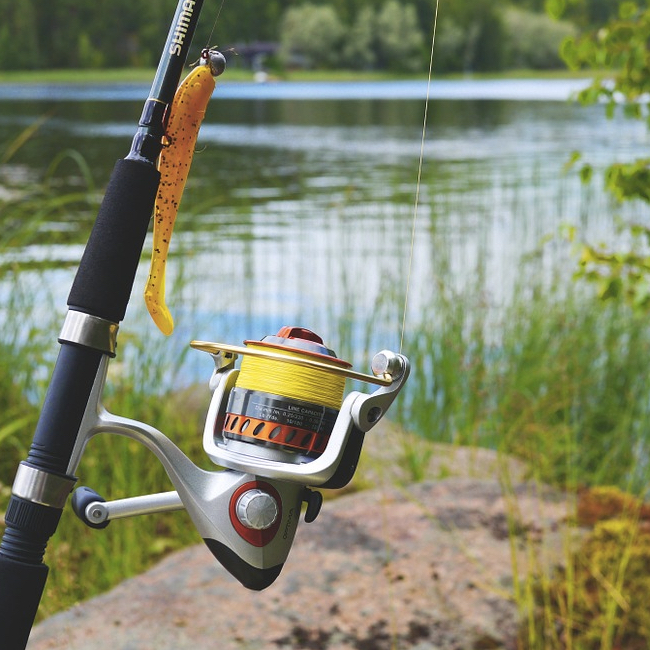 store your camping gear - Fishing rod